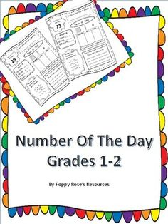 This product was designed for a combined class but it will work with K grade Grade 1 covers numbers while grade 2 has random numbers up to I love when sellers include a blank page so I can add additional numbers so I have included that for you as well. 1st Grade Math, Grade 2, Teaching Resources, Teaching Ideas, Daily 3, Math Work, Curriculum, Numbers, Classroom