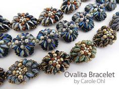 Ovalita Bracelet: Beadweaving Tutorial by Carole Ohl