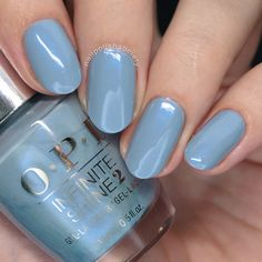 OPI Iceland Fall/Winter 2017 Collection : Nail Polish Society>> LVX Fall/Winter 2017 Collection You can collect images you discovered organize them, add your own ideas to your collections and share with other people. Light Blue Nail Polish, Light Colored Nails, Grey Nail Polish, Light Blue Nails, Nail Polish Trends, Green Nails, Gel Polish, Opi Nail Colors, Opi Nails