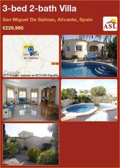 3-bed 2-bath Villa in San Miguel De Salinas, Alicante, Spain ►€229,995 #PropertyForSaleInSpain