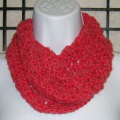 Cowl in beautiful ruby red by shawlmaker.com