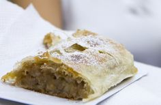 This traditional Hungarian strudel recipe is filled with sweetened apples. Raisins and chopped walnuts can be added, if desired, but not required. Strudel Dough Recipe, Strudel Recipes, Cake Recipes, Dessert Recipes, Dessert Bread, Pastry Recipes, Hungarian Desserts, Hungarian Cuisine, Hungarian Recipes