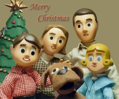 Davey & Goliath vintage Sunday morning cartoon - Christmas in Hollywood.