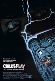 """Child's Play"" Movie Poster One of my favourite childhood movies! Poster is pretty good and more subtle then any of the other Chucky movie posters. Horror Movie Posters, Best Horror Movies, Classic Horror Movies, Scary Movies, 80s Movies, Cinema Posters, Halloween Movies, Chucky Movies, Event Posters"