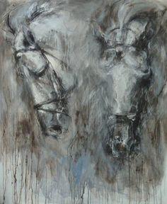 Study of Horses Heads - Palestino, Mandy Racine