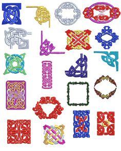 Celtic designs sewing motifs