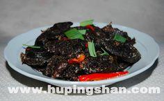 Black spicy sausage