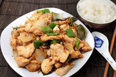 Weight Watchers Chinese General Chicken Recipe - 5 WW Freestyle Points 6 Smart Points - Quick and easy and ready in 20 minutes. Skinny Recipes, Ww Recipes, Light Recipes, Asian Recipes, Dinner Recipes, Cooking Recipes, Healthy Recipes, Weigth Watchers, Plats Weight Watchers