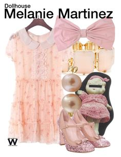 """""""Melanie Martinez"""" by wearwhatyouwatch ❤ liked on Polyvore featuring R.J. Graziano, PINK BOW, Undercover, Splendid Pearls, RED Valentino, wearwhatyouwatch and musicvideo"""