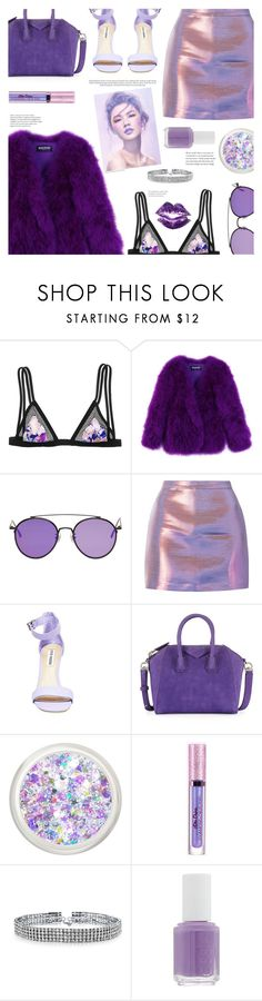 """Purple Princess"" by chocolate-addicted-angel ❤ liked on Polyvore featuring Victoria's Secret, Balmain, Gentle Monster, Steve Madden, Givenchy, Bling Jewelry and Essie"