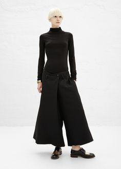 Y's by Yohji Yamamoto Fold Over Skort (Black)