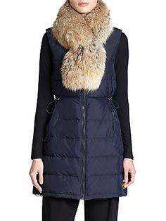 Theory Womira Fur-Collar Down Puffer Vest