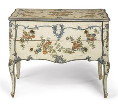 An Italian rococo polychrome-painted commode  Genoa, circa 1760 |Sotheby's
