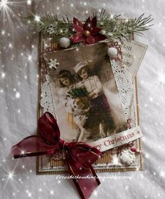 Christmas Tag, Christmas Angels, Christmas Crafts, Christmas Ornaments, Xmas Cards Handmade, Handmade Christmas, Shabby Vintage, Vintage Tags, Shabby Chic Cards