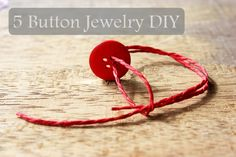 "Spice your gift giving up by using old buttons to make cute ""button jewelry"" to add to the top of gifts!"