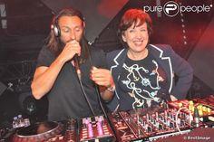 Roselyne Bachelot et Bob Sinclar - Paris by Night à la Gaité Lyrique à Paris, le 2 avril 2013. #lagrossedame