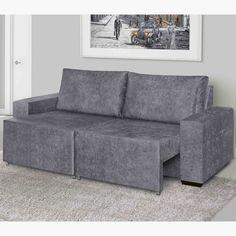 Para curtir a preguicinha de domingo nada melhor do que um sofá super confortável e retrátil para esticar as pernas. ;)