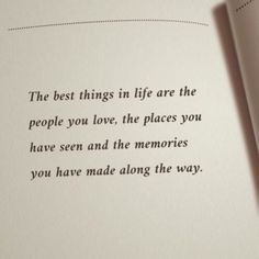 The best things in life are the people you love, the places you have seen and the memories you have made along the way. Continue reading…