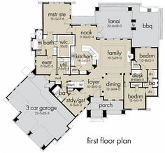 Expand pantry into utily room.  Expand utilty room into exercise room.  Convert remaining exercise room into a dog kennel with door and dog door out to dog run.  Make door from utility room to dog kennel. Remove door from master bath to exercise room. Add pass-through from WIC to utility room.  Move down  door from garage to outside.