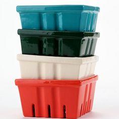 Ceramic Berry Baskets