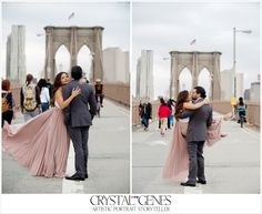 Gorgeous Brooklyn Bridge Engagement Session  - Crystal Genes Photography out of PDX.