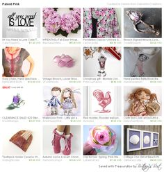 Palest #Pink by GabriellesCreations has our #vintage #Lisner #MOP #Pin http://etsy.me/1Mpi4ZZ #Etsy #treasury #gifts