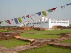 Lumbini, the Birthplace of the Lord Buddha - Lumbinī is a Buddhist pilgrimage site in the Rupandehi District of Nepal. It is the place where, according to Buddhist tradition, Queen Mayadevi gave birth to Siddhartha Gautama in 623 BCE. Buddha Temple, Famous Gardens, Religious Architecture, Tours, Macedonia, Travel Goals, List, Pilgrimage, World Heritage Sites