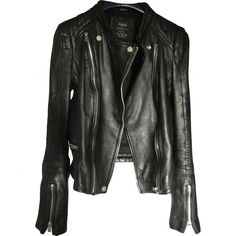 REAL LEATHER PERFECTO JACKET ZARA (115 CAD) ❤ liked on Polyvore featuring outerwear, jackets, 100 leather jacket, genuine leather jackets, real leather jackets and leather jackets