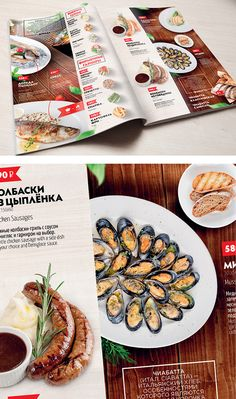 GRILL MENU & WINE LIST | PERCHINI by Dasha Narbut, via Behance