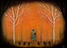 Forest Fellowship Print от andykehoe на Etsy
