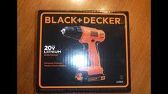 Black & Decker LD120C 20 Volt Cordless Drill unboxing