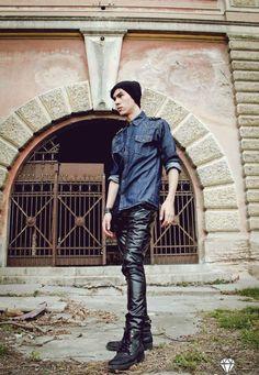 Leather pants gay man  twinks teen  rude