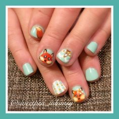Nailpolis Museum of Nail Art | Foxy Frenzy (Kids Nails) by SweetPea_Whimsy