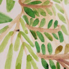 'The greenery' work in progress & a tiny visitor  - look closer & you'll spot him! Trabajó en progreso y un pequeño visitante #workinprogress #nature #picturebooks #ilustracion #illustration