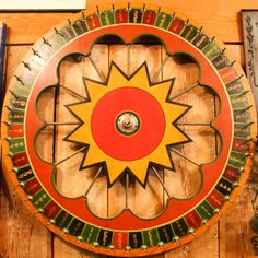 Vintage carnival roulette wheel sold by Aurora Mills Salvage