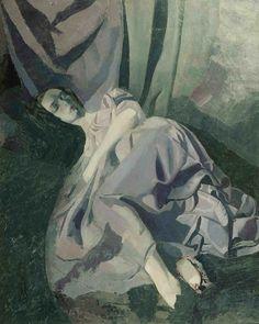Edwin Dickinson - Frances Foley, 1927 Oil on board, 50 x 40 in.