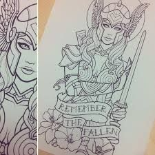 Resultado de imagen para valkyrie tattoo thor ragnarok