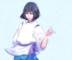 Spirited Away - Haku Studio Ghibli Art, Studio Ghibli Movies, Hayao Miyazaki, Spirited Away Haku, Chihiro Y Haku, Chibi, Howls Moving Castle, Otaku, My Neighbor Totoro