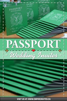 ☀️Green passport wedding invitations for a destination wedding in Punta Cana! Wedding Invitations Canada, Passport Wedding Invitations, Wedding Invitation Design, Wedding Stationary, Cruise Ship Wedding, Punta Cana Wedding, Wedding Abroad, Love Is In The Air, Mars