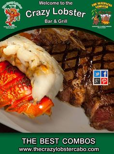 We have the best lobster and shrimp combos in the best atmosphere #lobster #combo www.thecrazylobstercabo.com