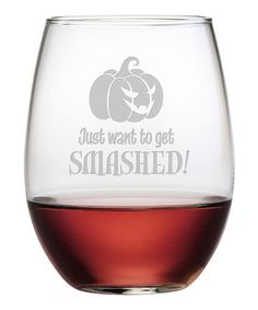Another great find on #zulily! 'Smashed' Stemless Wine Glass - Set of Four #zulilyfinds