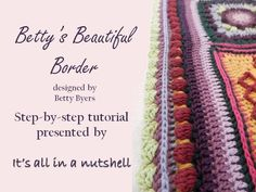 Here you can find all the video's for Sophie's Universe Crochet Along This beautiful blanket is designed by Dedri Uys from Look at what I made. Love Crochet, Crochet Trim, Crochet Granny, Crochet Stitches, Knit Crochet, Crochet Patterns, Crochet Edgings, Crochet Boarders, Crochet Blocks