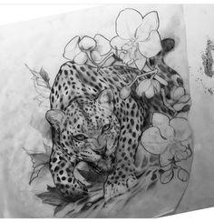 Фотография Daddy Tattoos, Head Tattoos, Badass Tattoos, Future Tattoos, Body Art Tattoos, Sleeve Tattoos, Jaguar Tattoo, Tiger Tattoo, Tattoo Sketches
