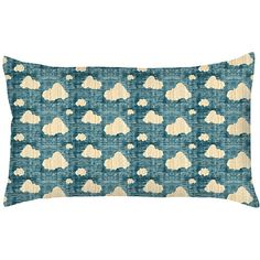Capa para Almofada Blue Cloud Colorida Poliéster (20x38cm) - Haus For Fun