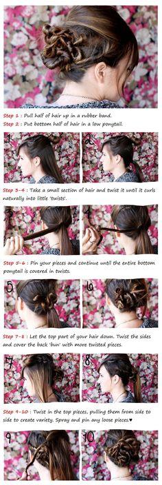 Twisted Bun Tutorial | Beauty Tutorials