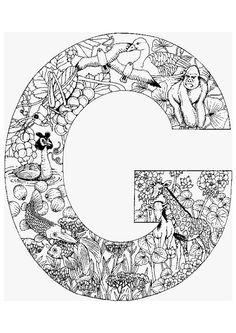 La lettre G en coloriage, attention au détail