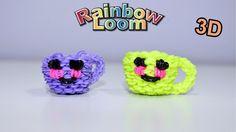 Tazzina Kawaii in 3-D con Elastici Rainbow Loom Happy Cup Tutorial♥