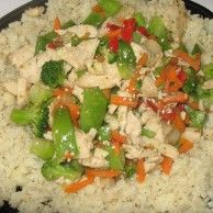 """Riced Cauliflower-I will never eat rice again. One head of cauliflower riced in the food processor makes tons of """"rice""""-yum! and can be frozen."""