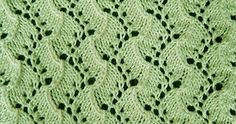 Lace knitting Pattern. Instructions for working this stitch in-the-round.