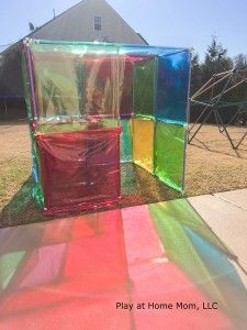 Stained Glass House Activities For Children Imagination, Outdoor Play, Play At Home Mom, Playing with Light Play At Home Mom Outdoor Education, Outdoor Learning, Outdoor Games, Outdoor Fun, Reggio Emilia, Outside Activities, Preschool Activities, Outdoor Activities, Weather Activities